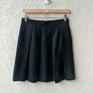 J. Crew super 120s wool pleated skirt